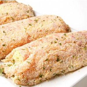 Libritos de pollo con queso y jamón