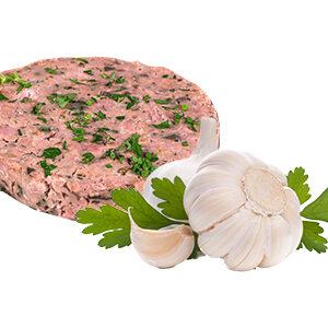 hamburguesa de pollo con ajo y perejil polleria