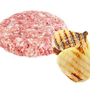 hamburguesa de pollo con cebolla polleria