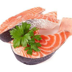salmon rodajas pescado